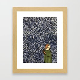 Wallpaper Girl Framed Art Print