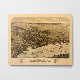 Map Of Jacksonville 1876 Metal Print