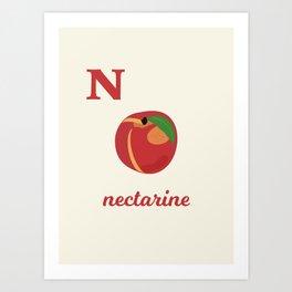 N is for nectarine Art Print