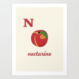 N is for nectarine Art Print