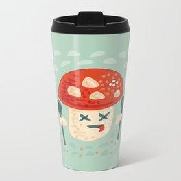 Funny Cartoon Poisoned Mushroom Metal Travel Mug