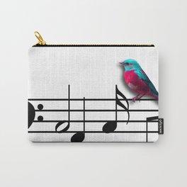 Bird on Music Sheet Carry-All Pouch