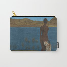 Woman & Cheetah Carry-All Pouch