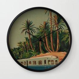 El Kantara Vintage Travel Poster Wall Clock