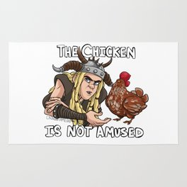 The Chicken Is Not Amused Rug