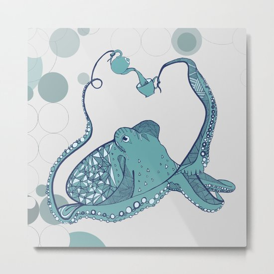 Octopus ! Metal Print