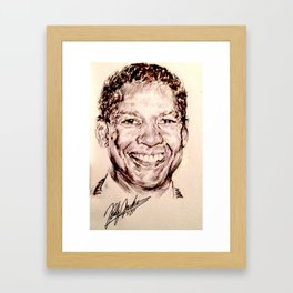 DENZEL WASHINGTON Framed Art Print
