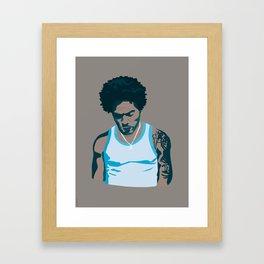 Lenny Kravitz - Portrait III Framed Art Print