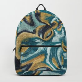 Abstract painting on metal texture Backpack