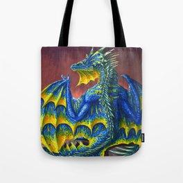 Horned Dragon Tote Bag