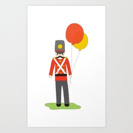 Balloon Soldier Art Print