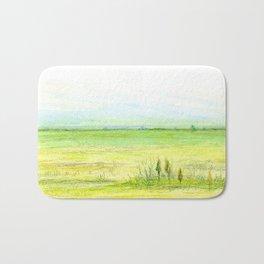 Green meadow Bath Mat