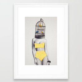 Bird Brained Babe Framed Art Print