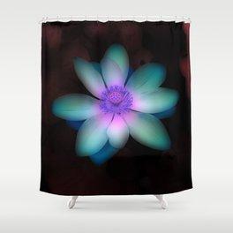 Glowing Lotus Flower Shower Curtain