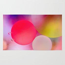 Multicolored Pastel Oil Bubble Water Drops Rug