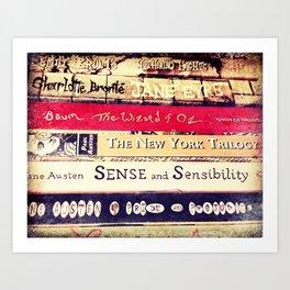 Classic Books Art Print