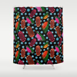 Beautiful Australian Native Flowers - Beehive Ginger and Grevillea Shower Curtain