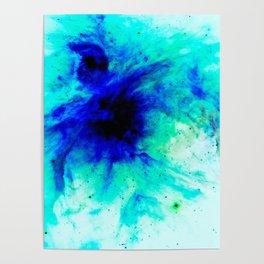 Orion Nebula Bright Blue Aqua Poster