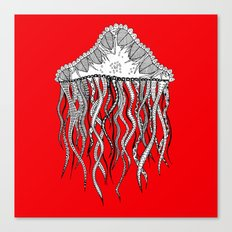 red jelly square Canvas Print