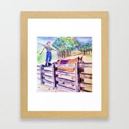 Split-rail  Framed Art Print