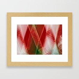 Abstract Holiday Plaid Framed Art Print