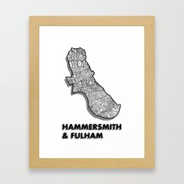 Hammersmith & Fulham - London Borough - Detailed Framed Art Print