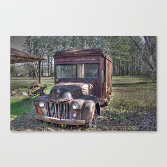 Old Railway Express Agency Truck Canvas Print