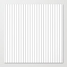 White And Black Pinstripes Lines Stripes Minimalist Stripe Line Leinwanddruck