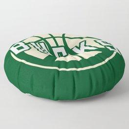 Bucks basketball vintage green logo Floor Pillow