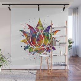 Lotus Flower 2 Watercolor Print Wall Art Wedding Gift Zen decor Wall Mural