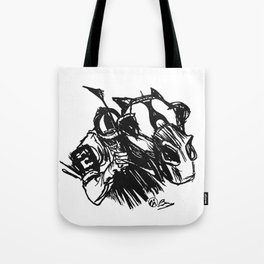 """On The Backstretch"" Horse Racing, Thoroughbred, Saratoga, EQUESTRIAN, Tote Bag"