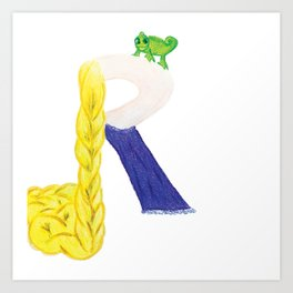 R is for Rapunzel Art Print