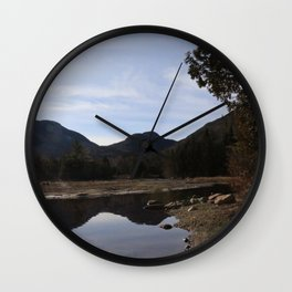 High Peaks Upstate New York Lake Placid Wall Clock