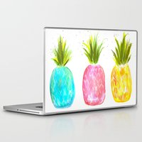pineapples Laptop & iPad Skins featuring Pineapples  by Melanie Dorsey Designs