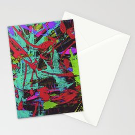 Monster in the paint Stationery Cards