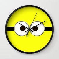 minion Wall Clocks featuring minion by cbrocoff