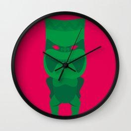 Green Tiki Wall Clock