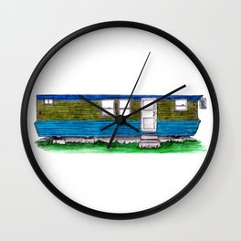 Home Sweet Trailer Home Wall Clock