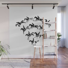 Connected to Showjumping (Black) Wall Mural