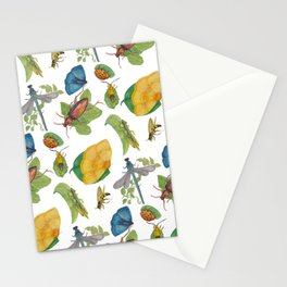 Watercolour bugs Stationery Cards