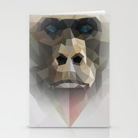 ape Stationery Cards featuring ape by muszka
