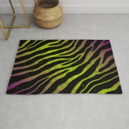 Ripped SpaceTime Stripes - Purple/Lime Rug