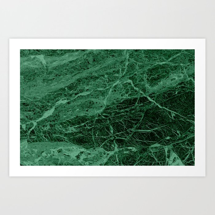 Dark emerald marble texture Kunstdrucke