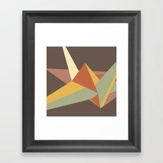 Abstract Crane Framed Art Print