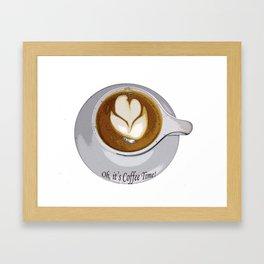 Kitchen Decor Coffee Time Framed Art Print