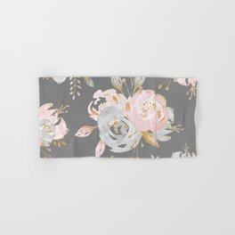 Night Rose Garden Gray Hand & Bath Towel