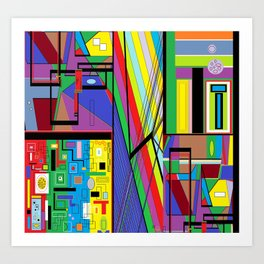 Geometry Abstract Art Print