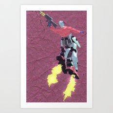Robot Trousers Art Print