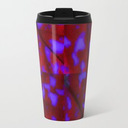 Deep Red with Purple Splotches Travel Mug