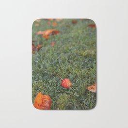Autumn crab apple Bath Mat